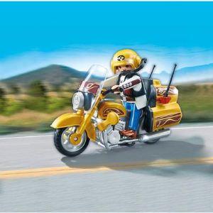 Playmobil 5523 Sports et Action - Moto de route dorée