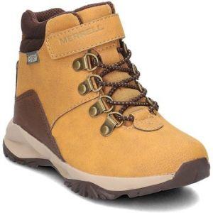 Merrell ML-b Alpine Casual Boot Waterproof, Chaussures de Randonnée HauteGarçon - Orange (Wheat) - 35 EU (3 UK)