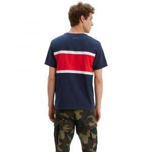 Levi's T-shirt imprimé col rond Colorblock Bleu Marine/Rouge - Taille L;M;S;XL;XS;XXL