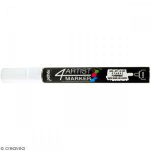 Pebeo Marqueur à huile 4Artist Marker - Blanc - Pointe ronde - 4 mm