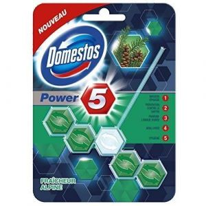 Domestos Bloc WC Power Alpinex - 5 fraîcheurs