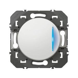 Legrand Dooxie interrupteur ou va-et-vient blanc 10 AX avec voyant lumineux 600011