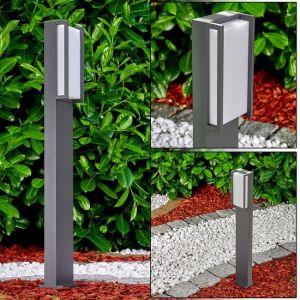 Hofstein Potelet extérieur LED Skove en métal anthracite, lampadaire pour allées et jardins, 1100 Lumen, 3000 Kelvin, 18 Watt