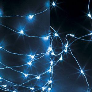 Guirlande lumineuse 100 micro LED - 5 m d'Eclairage fixe bleu