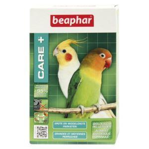 Beaphar Care + - Aliment super premium pour grandes et moyennes perruches (1 kg)