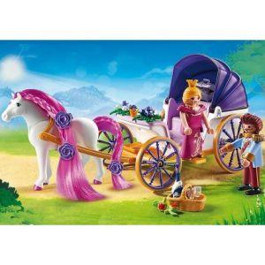 Playmobil 6856 Princess - Calèche royale avec cheval à coiffer