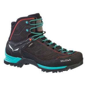 Salewa Ws Mtn Trainer Mid Gtx, Chaussures de Randonnée Hautes Femme, Gris (Magnet/Viridian Green 0674), 40 EU