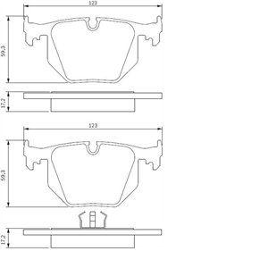 Bosch BP176 - 4 Plaquettes de frein Arrière