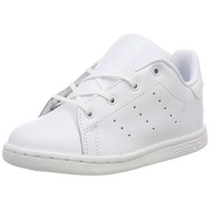Adidas Stan Smith I, Sneakers Basses Mixte Bébé, Blanc (FTWR White/FTWR White/FTWR White Bb3001), 27 EU