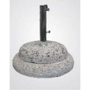 Pegane Pied de parasol en granite (grès béton) avec tube en acier 60 kg - Dim : 54 cm