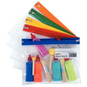 Snopake Pochettes Zippa Bag S - 140 microns - A5 - L25,5 x H19 cm - transparente avec Zip assortis - sachet de 5