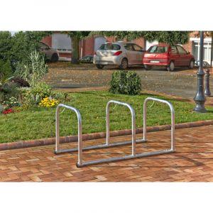 Mottez Support vélos en ligne 4 arceaux pour 8 vélosMOTTEZ B882C4