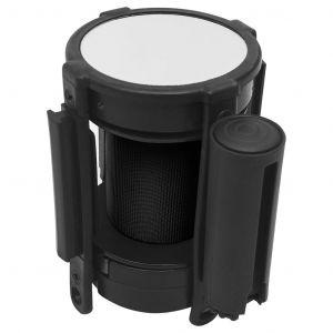 VidaXL Barrière à bande rétractable 200 cm Noir