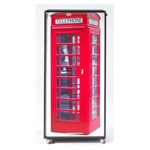 Meuble informatique à rideau coulissant London Phone