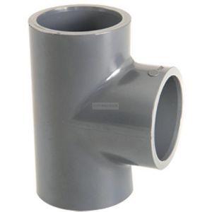 GIRPI Té simple 90° femelle pression à coller PVC-U d32 BTE32