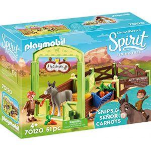 Playmobil Spirit 70120 La Mèche et Monsieur Carotte avec box