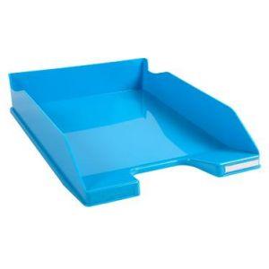 Exacompta 113282D - Corbeille à courrier COMBO MIDI, bleu turquoise brillant