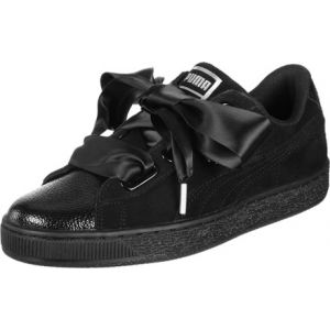 Puma Suede Heart Bubble Wn's, Sneakers Basses Femme, Noir Black Black, 38.5 EU