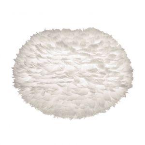 """Zago """"Abat-jour plumes d'oie naturelles blanches Ø65 cm Eos """""""