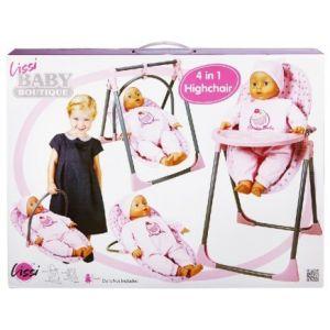 Lissi Dolls Chaise haute 4 en 1 pour poupée jusqu'à 40 cm