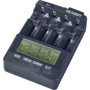 Voltcraft Chargeur pour piles rondes Li-ion, NiCd, NiMH IPC-3 10440, 14500, 16340, 16650, 17355, 17500, 17670, 18490,