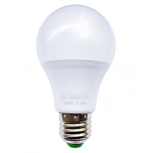 Ohm-Easy Ampoule LED bulbe E27, 5W 12V AC/DC, blanc chaud