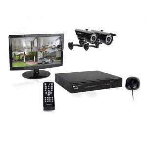 SMARTWARES Kit de surveillance HD DVR728S avec enregistreur 1Tb 8 canaux