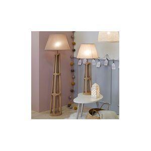 Corep Copen - Lampadaire en bois 159 cm