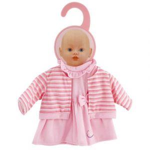 Calinou Vêtement pour poupon Robe rose avec gilet 32-36 cm