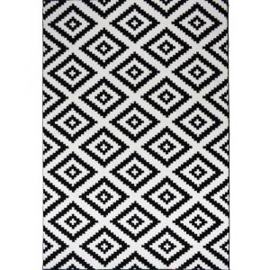 TAVLA Tapis de salon moderne - 120 x 160 cm - 100% polypropylène frisée - Noir - Tapis de salon moderne - 120 x 160 cm - 100% polypropylène frisée - noir