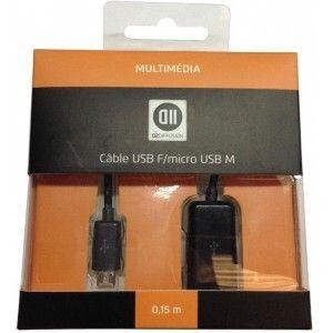 D2 diffusion Câble USB femelle vers micro USB