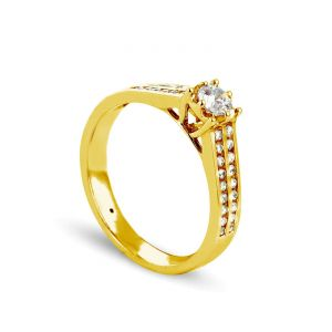 Rêve de diamants 3612030091902 - Bague en or jaune sertie de diamants