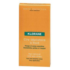 Klorane Cire dépilatoire à froid visage 6 bandes
