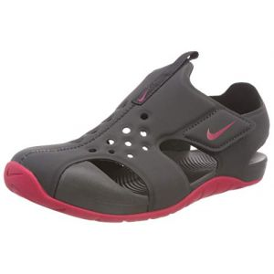 Nike Sunray Protect 2 (PS), Sandales de Sport Fille, Multicolore (Anthracite/Rush Pink 001), 33.5 EU
