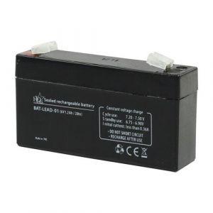 Hq ACCU AU PLOMB / 6 Volts, 1.2 Ah / 97x24x52mm Horizontal