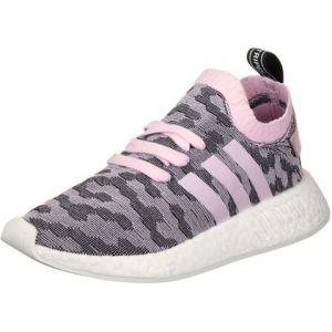 Adidas NMD_r2 Primeknit, Baskets Femme, Rose (Wonder Pink F10/wonder Pink F10/core Black), 36 EU