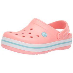 Crocs Crocband Clog, Sabots Mixte Enfant, Rose (Melon/Ice Blue) 24/25 EU