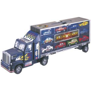 John World Camion transporteur et 10 voitures