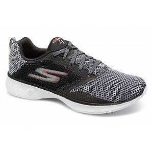 Skechers Go Walk 4, Baskets Femme, Noir (Black/Pink), 41 EU