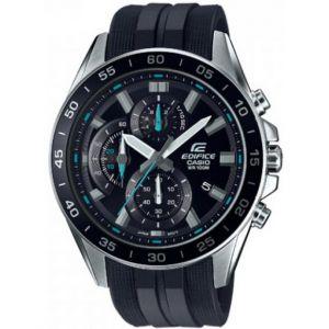 Casio Chronographe Montre-bracelet EFV-550P-1AVUEF (L x l x h) 53 x 47 x 12.1 mm argent, noir Matériau du boîtier=acier inoxydable Matériau (bracelet)=Résine