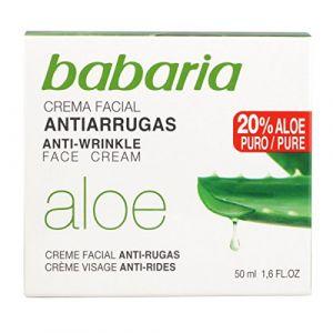 Babaria Crème visage anti-rides avec protection solaire à l'aloe vera - 50ml