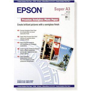 Epson 20 feuilles de papier photo Premium semi glacé 251g/m² (A3+)