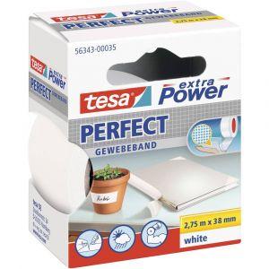 Tesa Ruban adhésif toilé Extra Power t 343-00035-02 blanc (L x l) 2.75 m x 38 mm caoutchouc 1 rouleau(x)