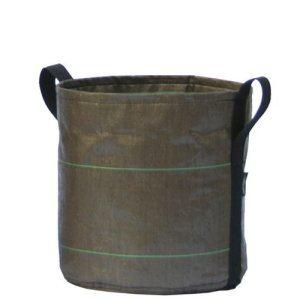 Bacsac Pot rond 3L à anses en tissu géotextile Ø15 x 15 cm