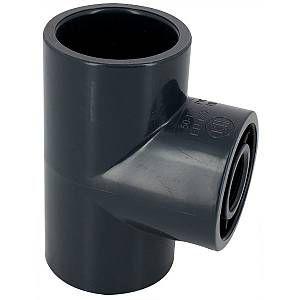 Centrocom Raccords Té 90° PVC pression mixte FF Ø63-1/2