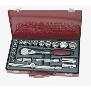 """Kraftwerk 2023 - Coffret de douilles, cliquet et accessoires 22 outils 1/2"""""""