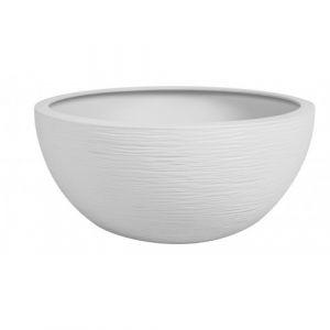 Eda Plastiques Vasque Graphit'Up - diamètre 30 cm - volume 5,5 litres - blanc cérusé