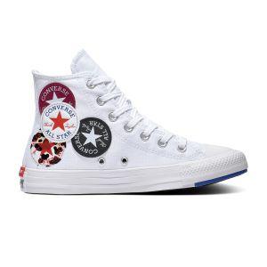 Converse Chuck Taylor All Star Hi toile Femme-38-Blanc Bleu