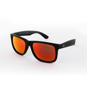Ray-Ban RB4165 Justin Color Orange et Black - Lunettes de soleil