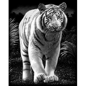 Reeves Carte à gratter argentée : Tigre